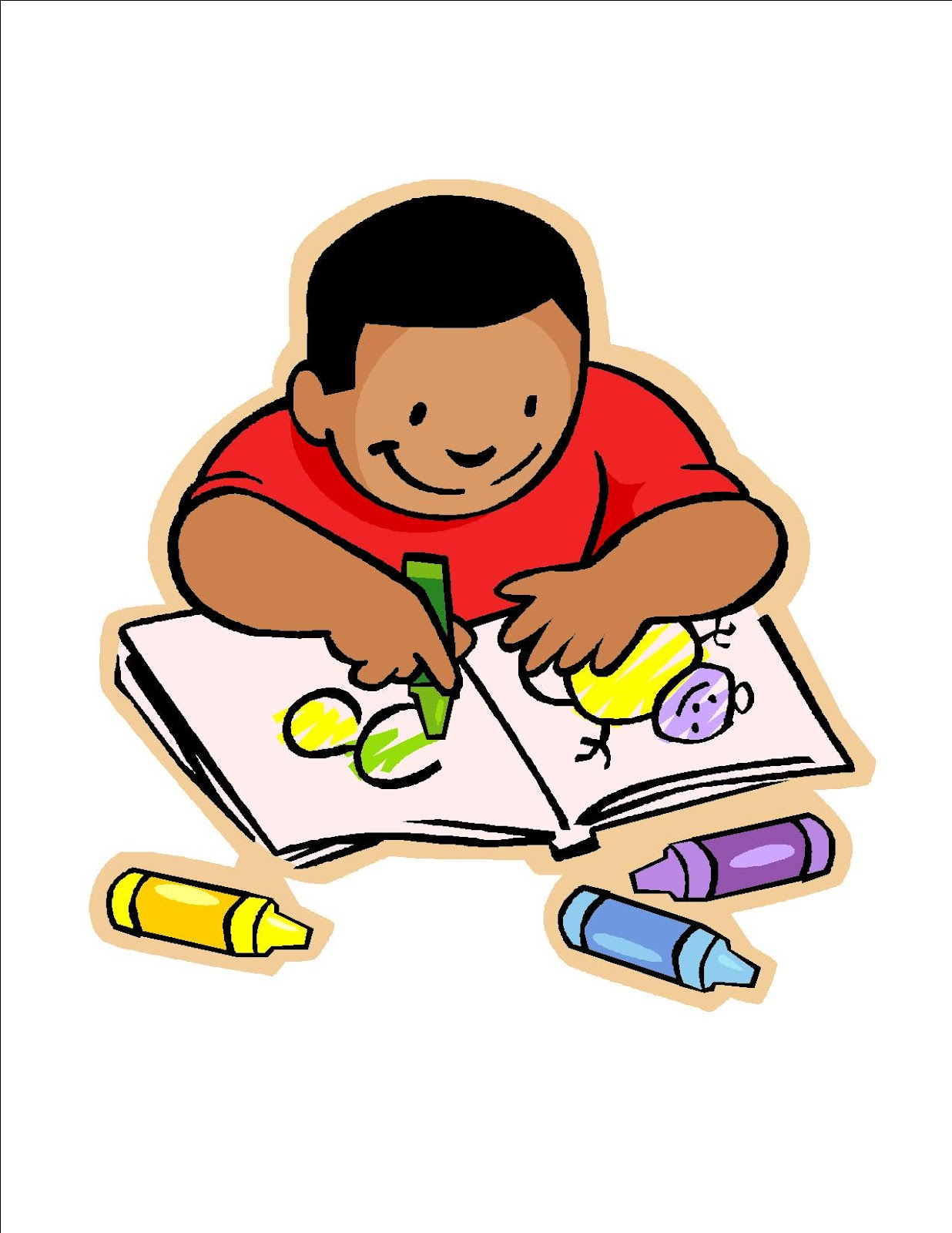 School Children Writing Clipart Clipart Panda