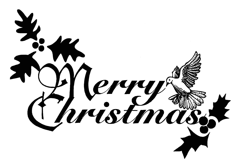Religious Christmas Clipart Black And White