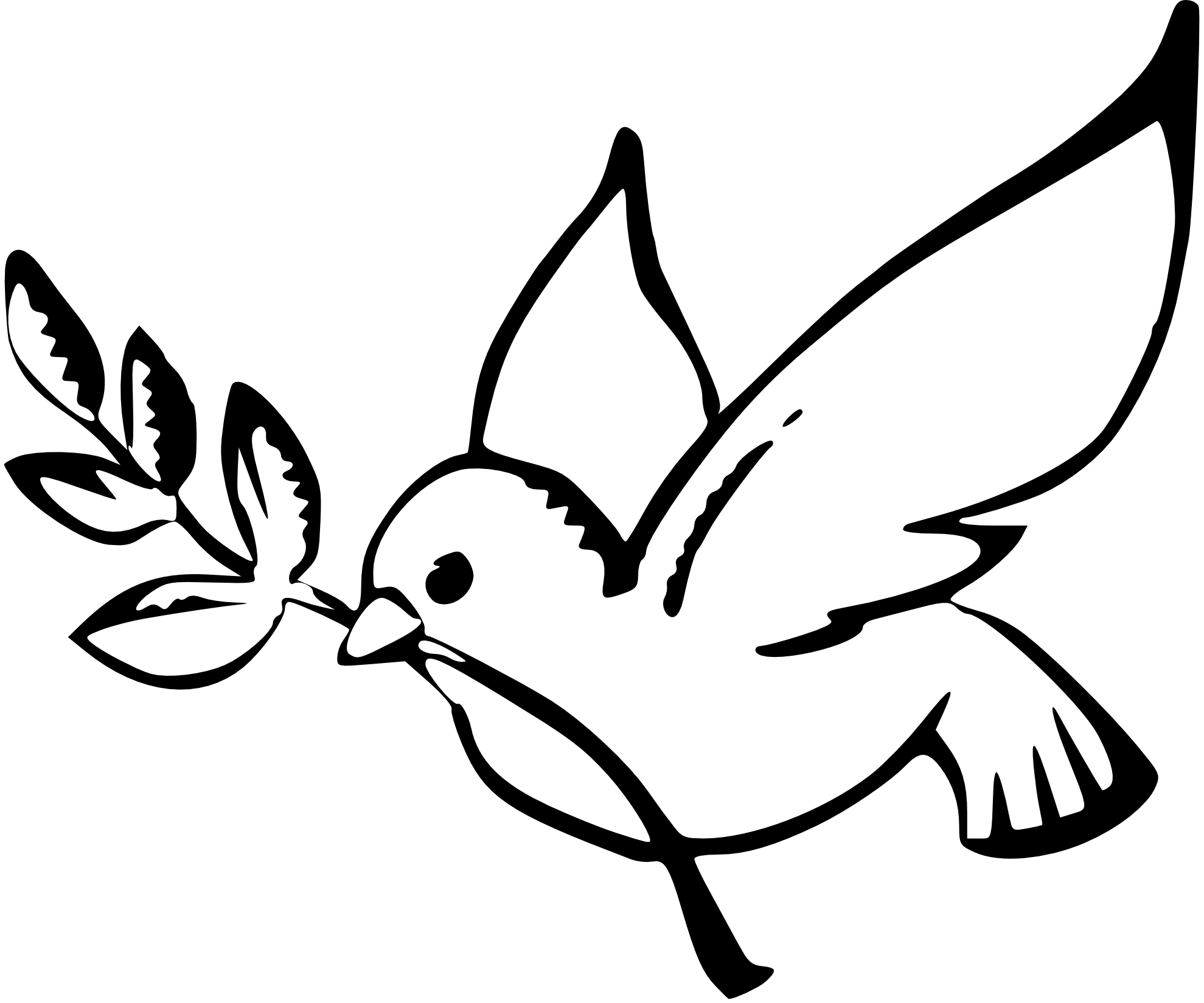Dove Peace Black White Clipart Panda