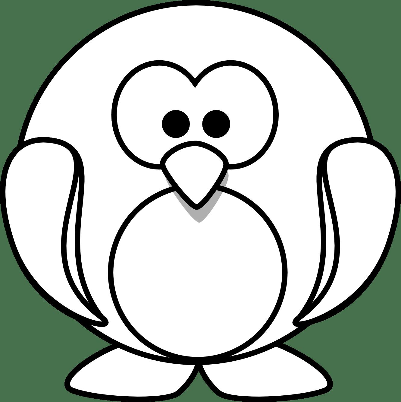 Christmas Penguin Clipart Black And White