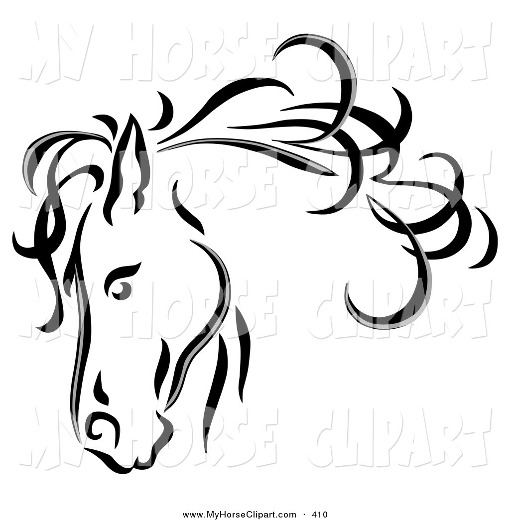 Horse Clipart Black And White Clipart Panda