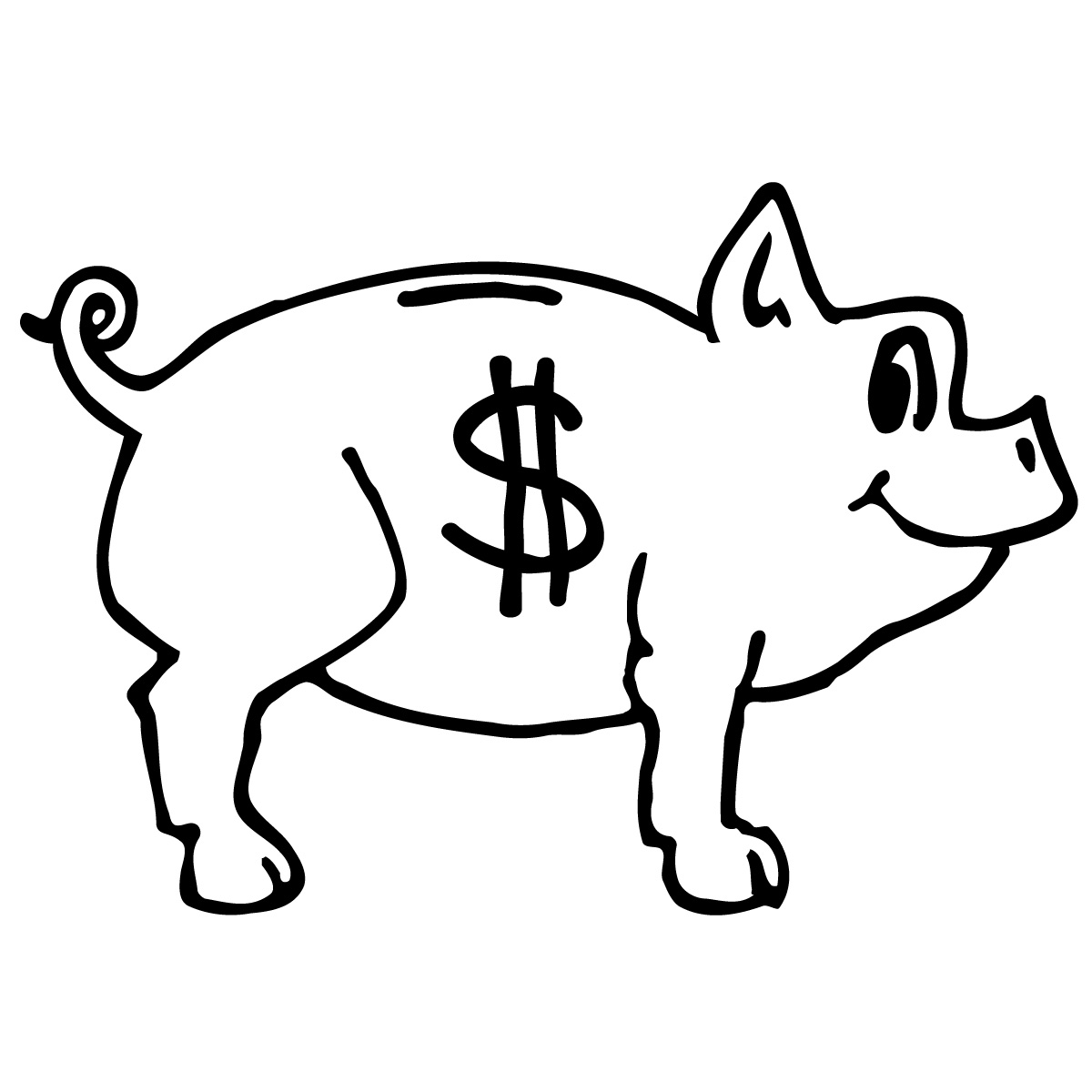 Dollar Sign Clipart Black And White Clipart Panda