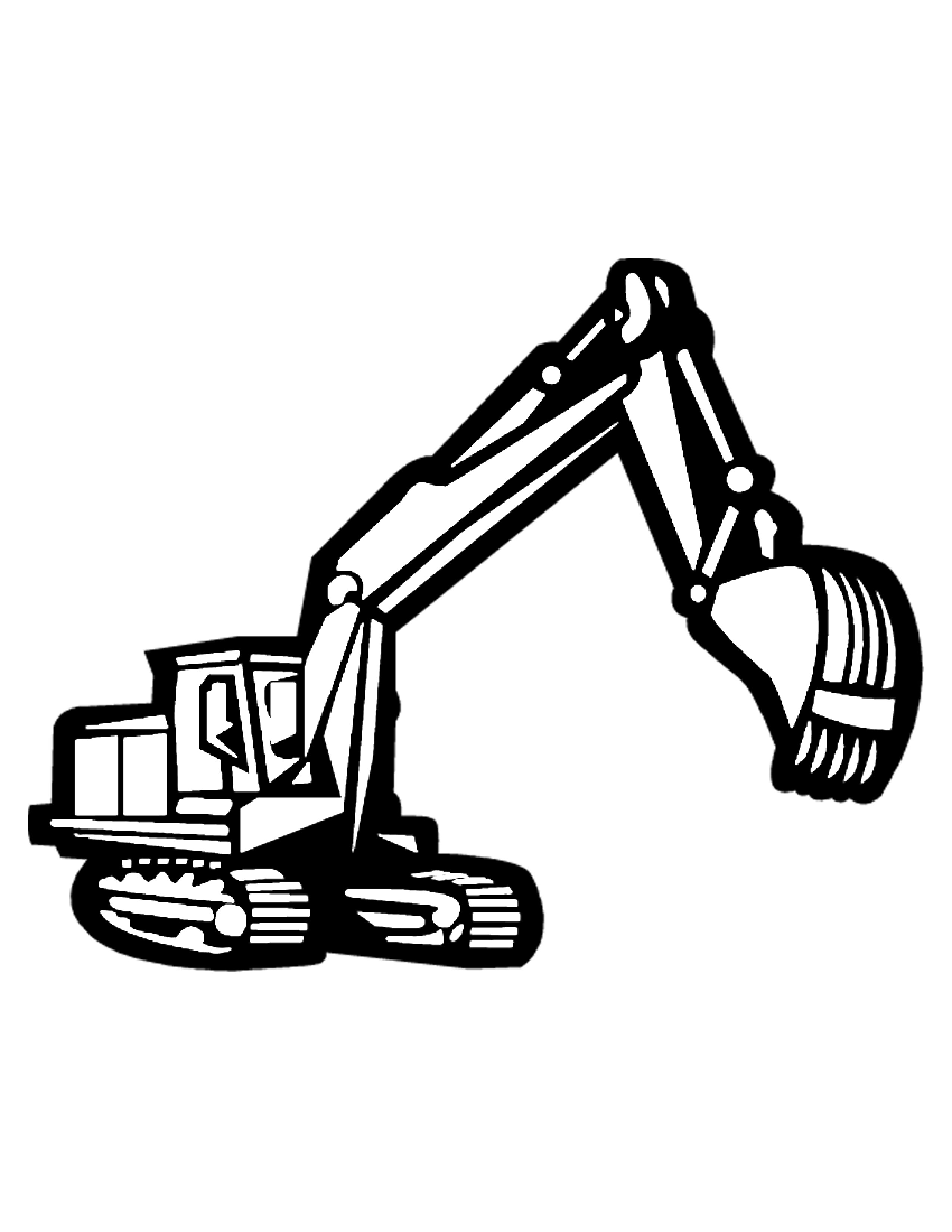Construction Equipment Coloring Pages Clipart Panda