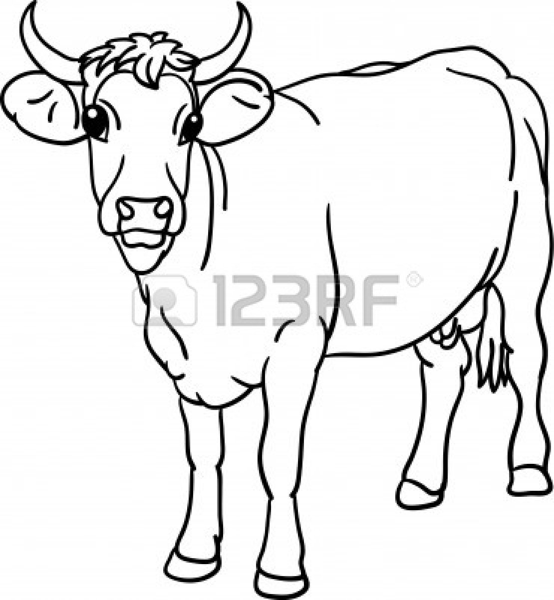 Cow Head Clipart Black And White Clipart Panda
