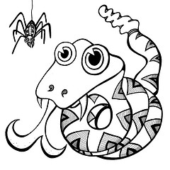 cute snake coloring page clipart panda free clipart images