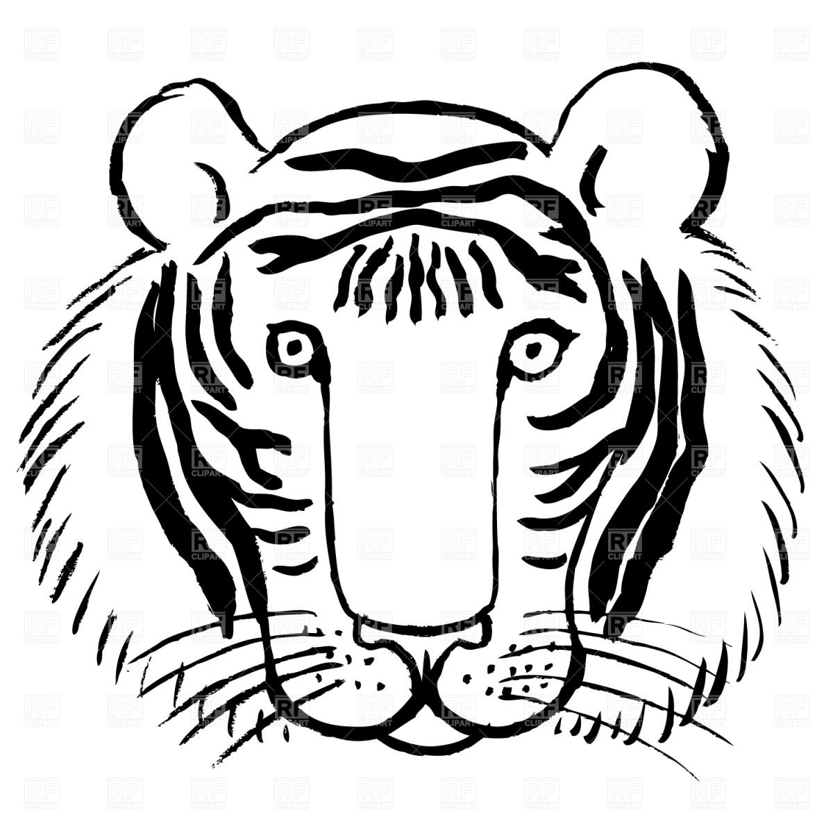 Tiger Face Clip Art Color Clipart Panda