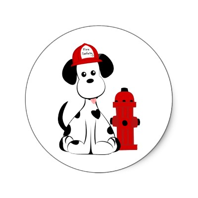 dalmatian clipart fire dog clipart dalmatian fire dog round stickers