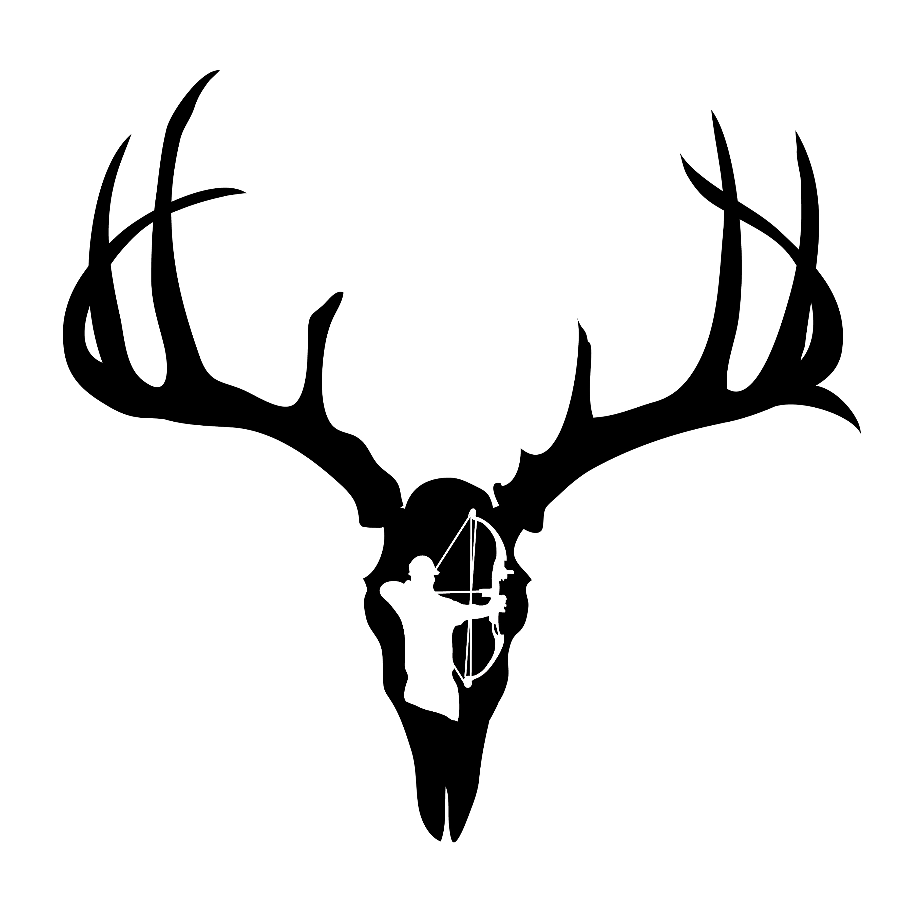 Deer Skull Decal Drop Tine Clipart Panda