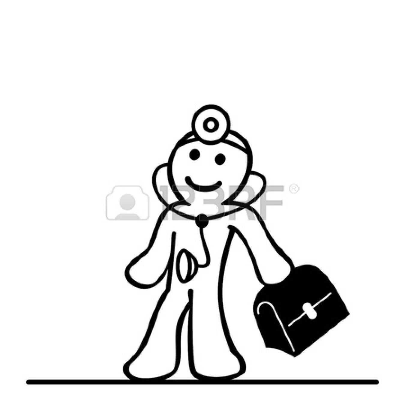 Doctor Bag Clip Art Black And Clipart Panda