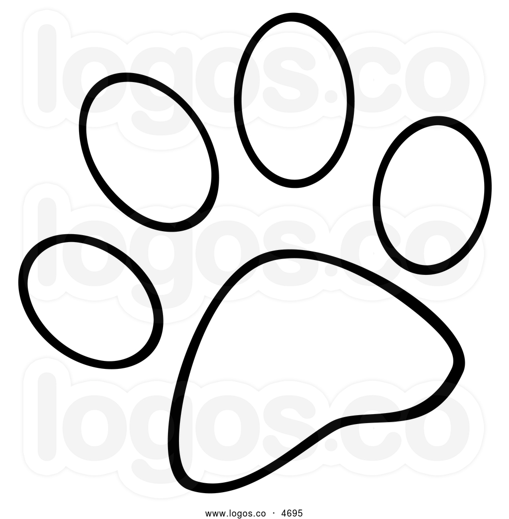 Bear Paw Clipart Black And White Clipart Panda