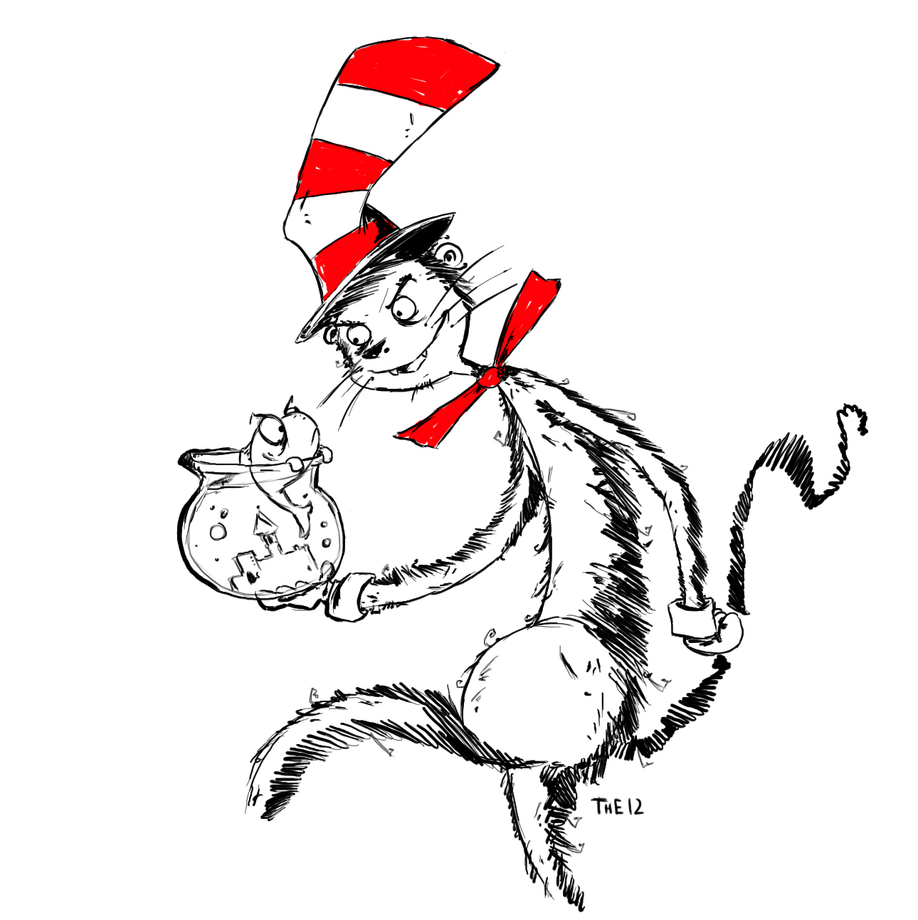 Dr Seuss The Cat In Hat Coloring Pages