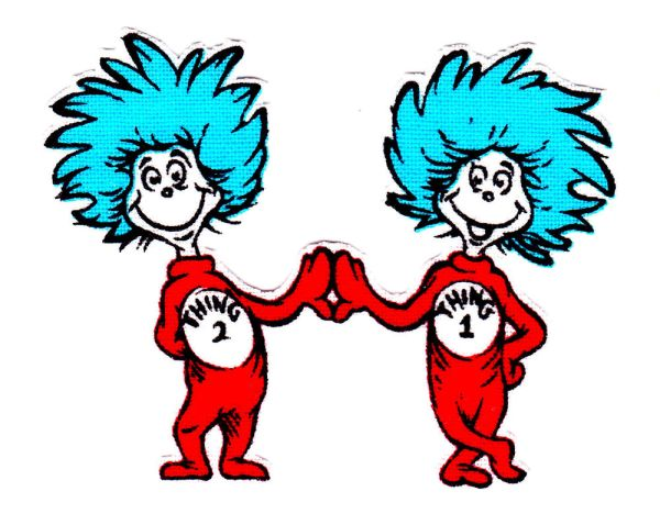 thing 1 and thing 2 coloring pages # 13