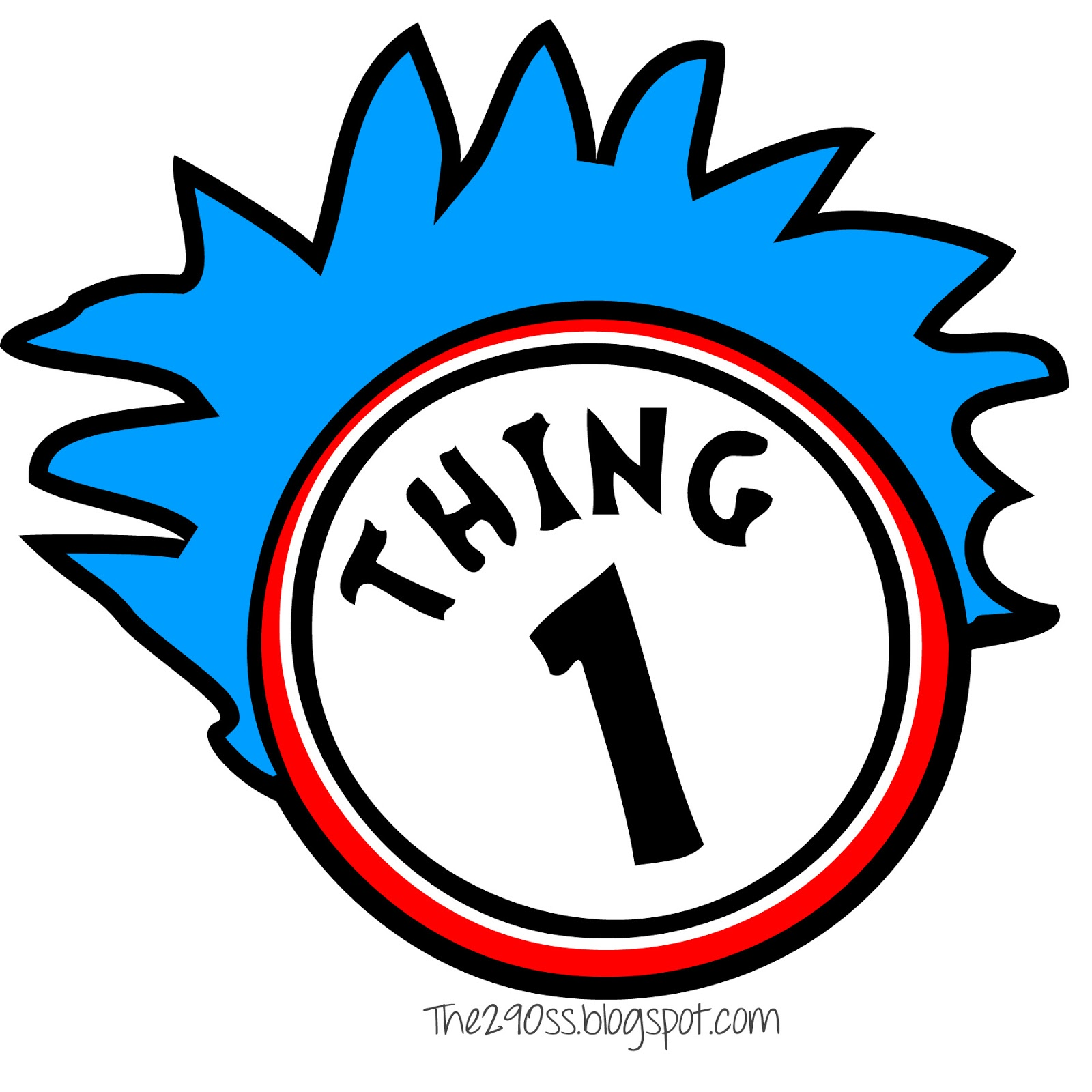 This is a photo of Thing 2 Logo Printable regarding 1and