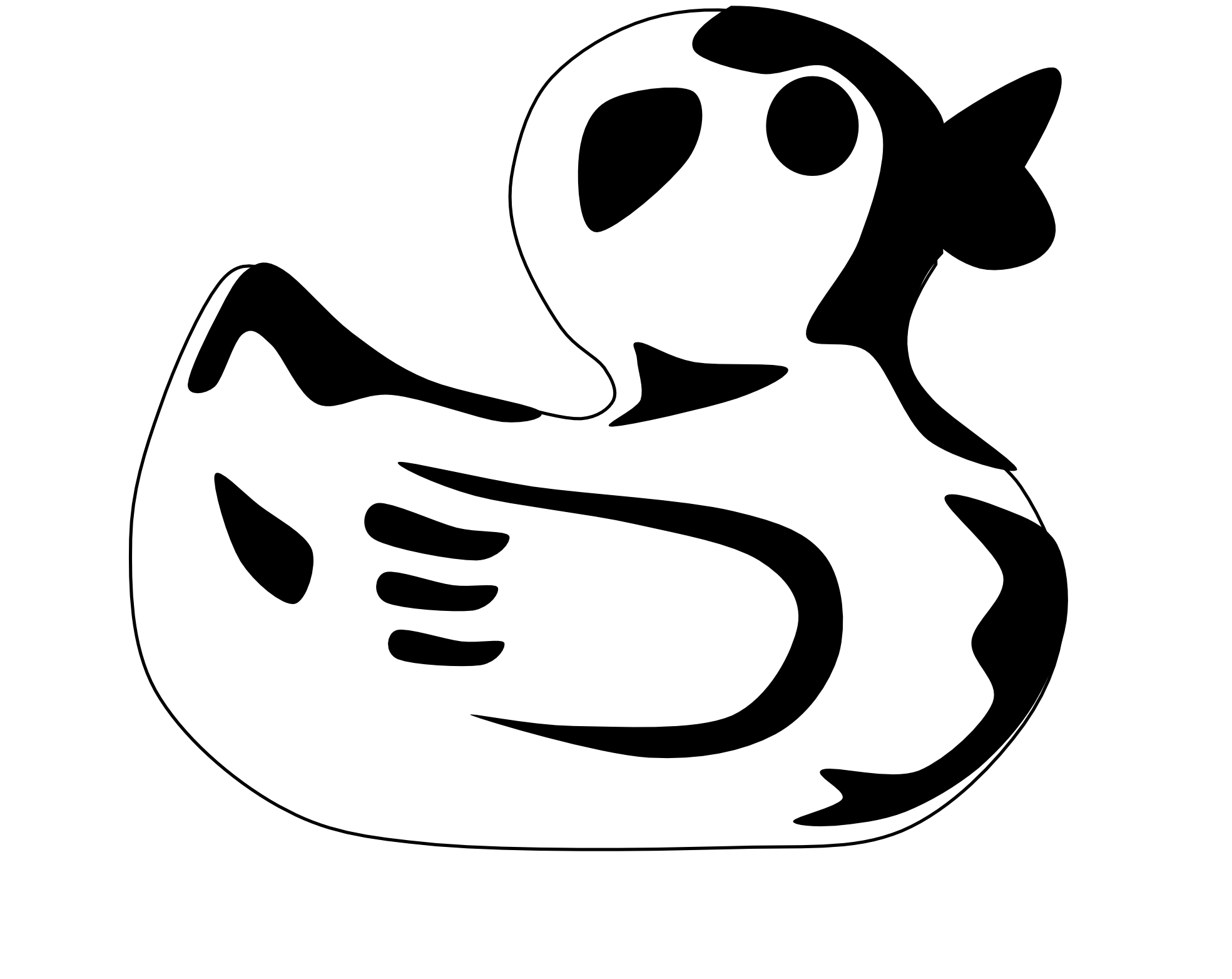 Duck Clipart Black And White Clipart Panda