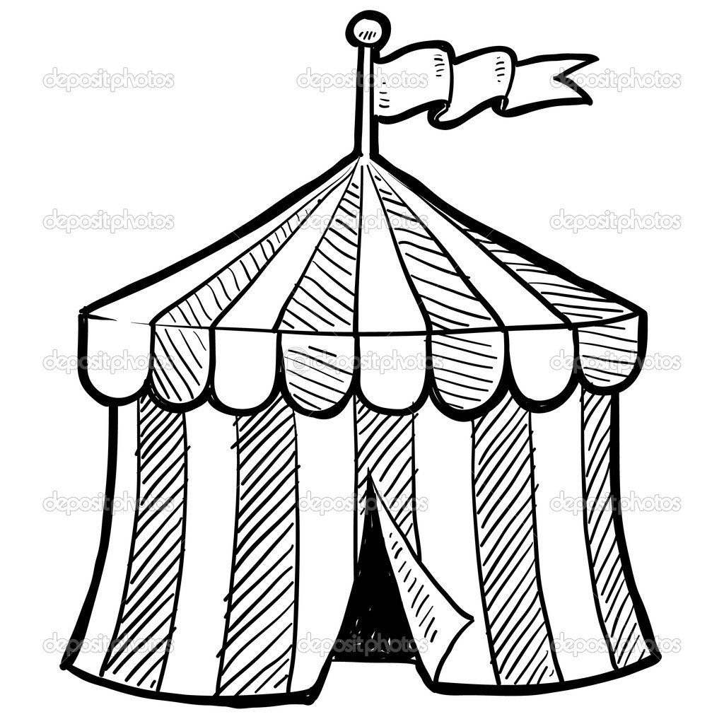 Event Tent Vector Clipart Panda