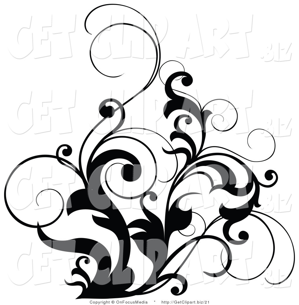 Clipart Leaves Black And White Clipart Panda