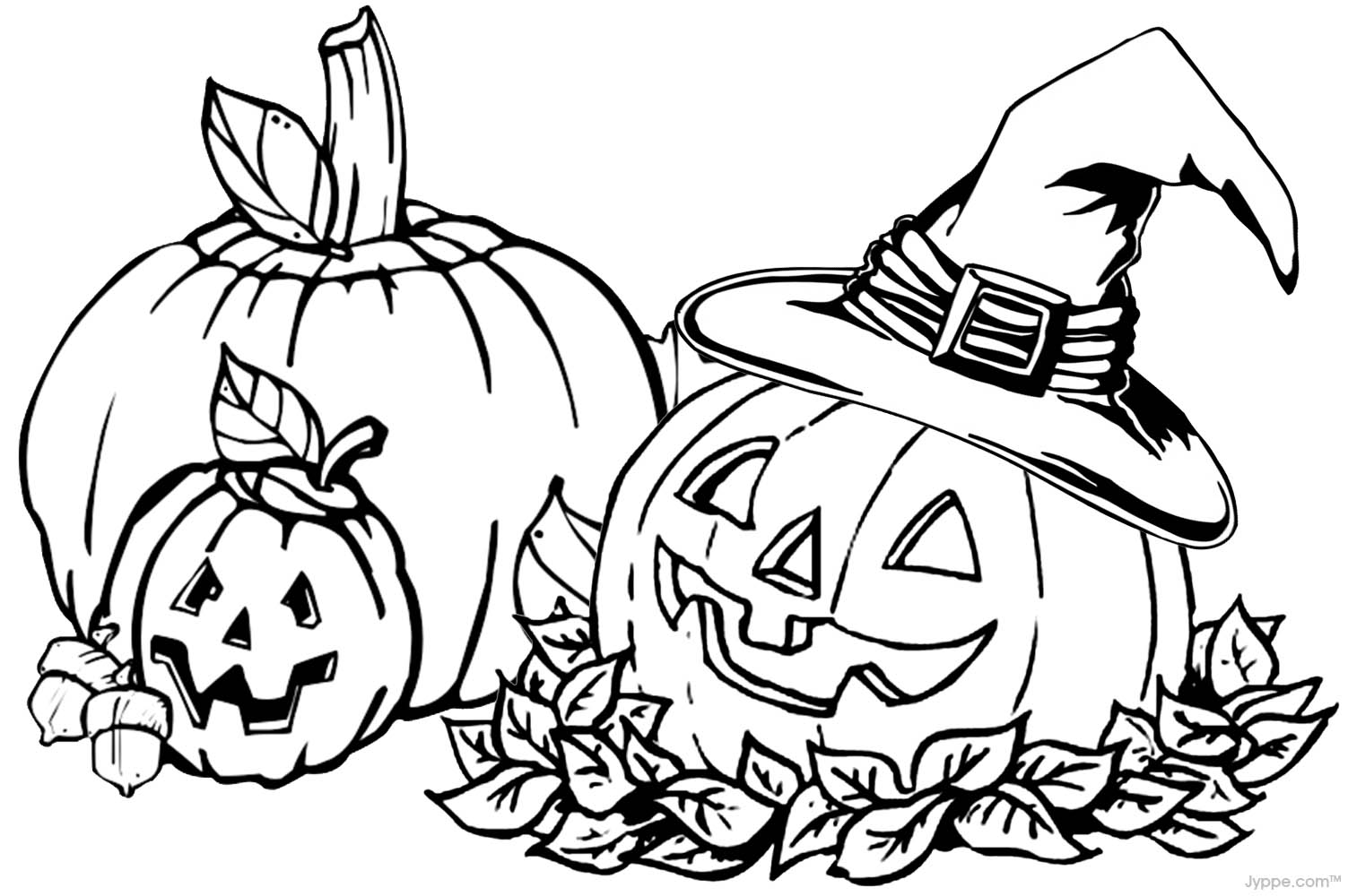 fall pumpkin coloring pages Just