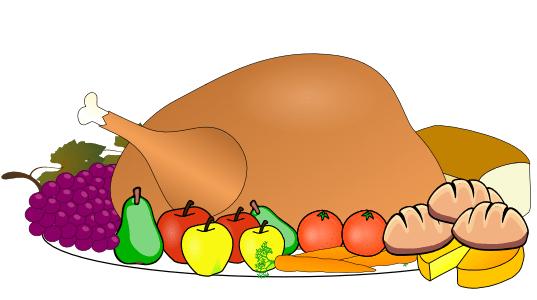 Loaded Thanksgiving Plate Clip Art