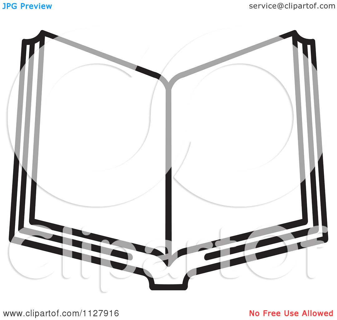History Book Clipart Black And White