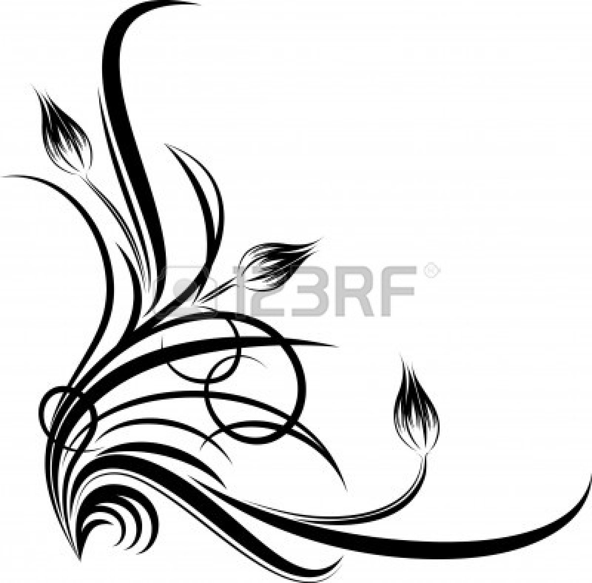 Flower Corner Border Clip Art Clipart Panda