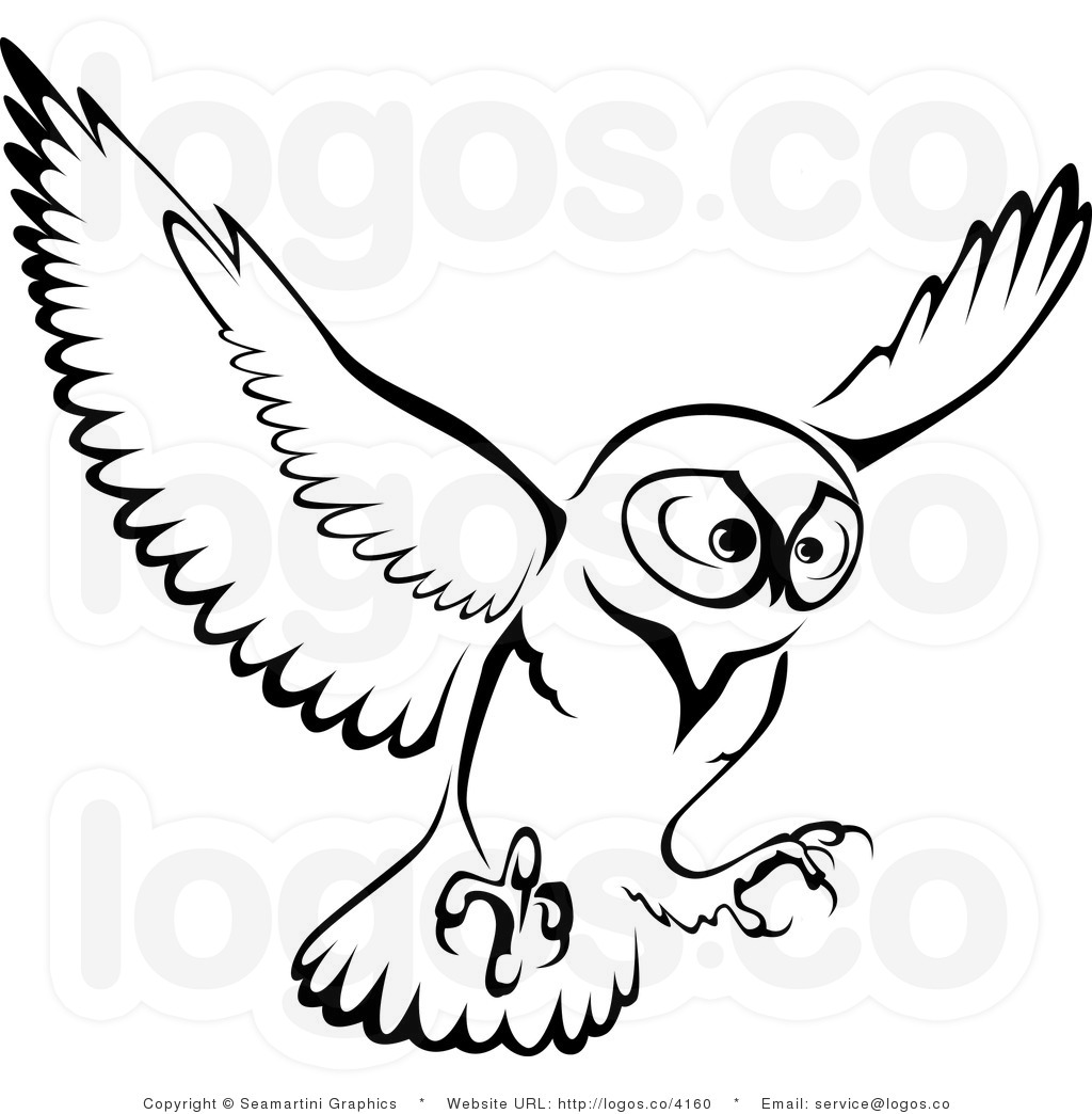 Flying Owl Clipart Black And White Clipart Panda