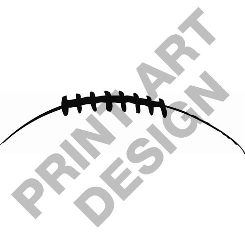 Silhouette Clip Football Laces Art