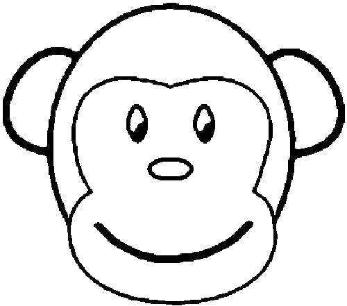 giraffe head coloring pages monkey face coloring pages jpg