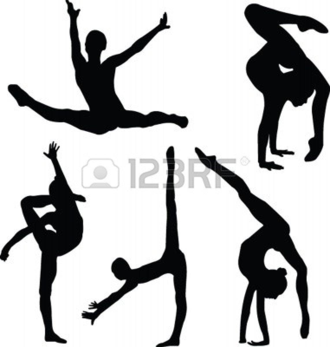 Girl Gymnastics Clipart Silhouette Clipart Panda