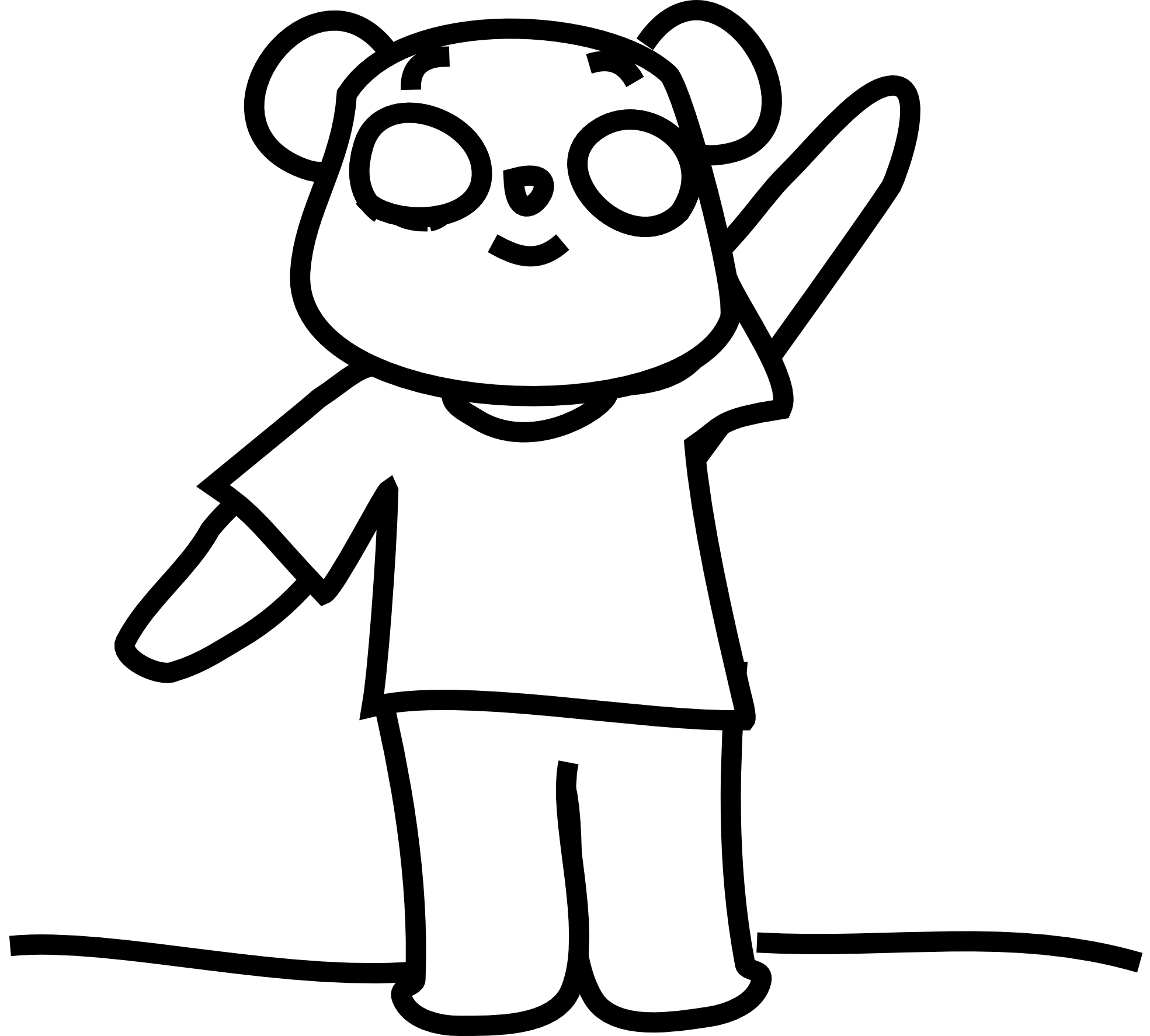 Sleeping Bear Clipart Black And White