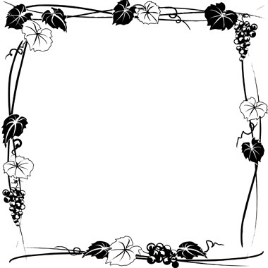 Grapes Black And White Clipart