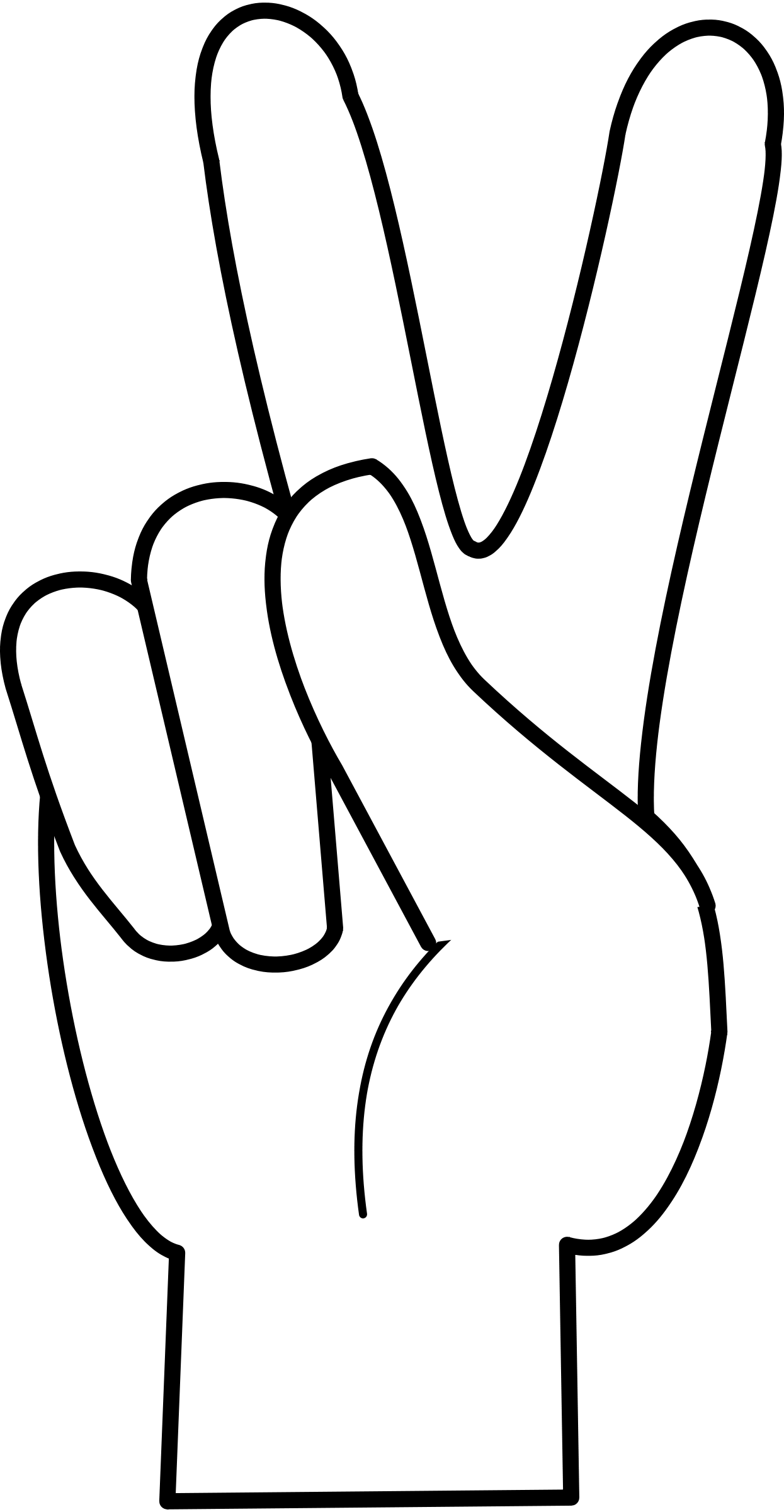 Hand Peace Sign Clipart Clipart Panda