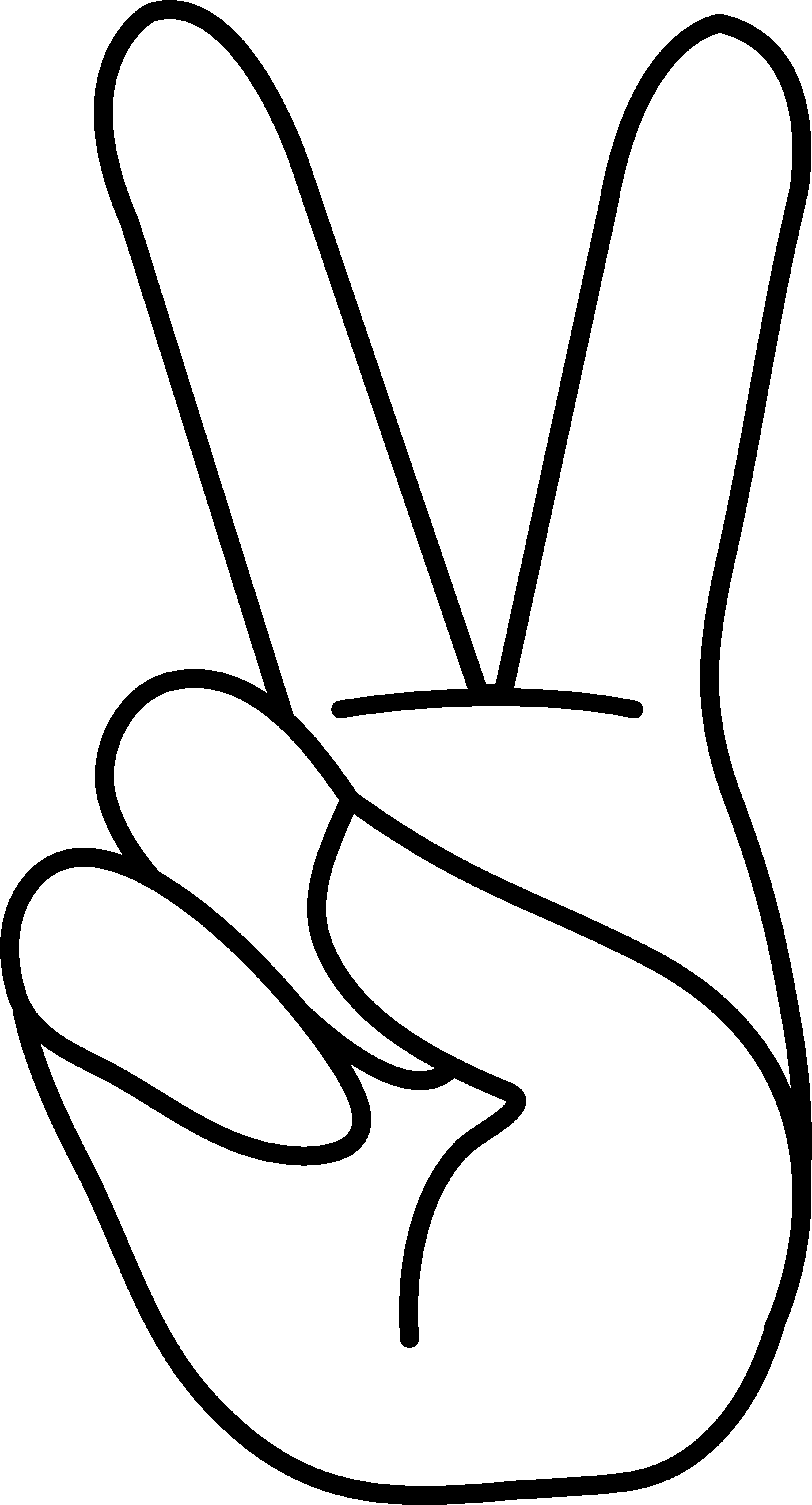 Peace Sign Hand Clipart Panda