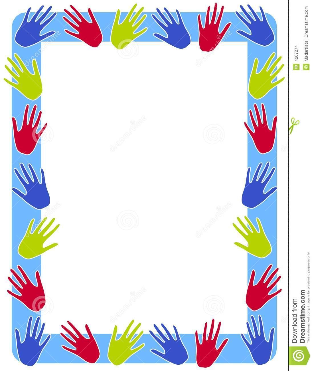Hand Print Border Clip Art Clipart Panda