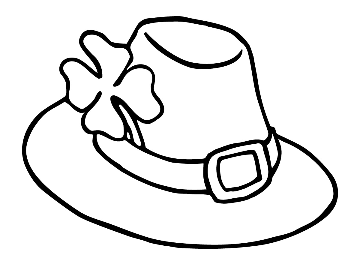 Hat Clip Art Black And White Clipart Panda