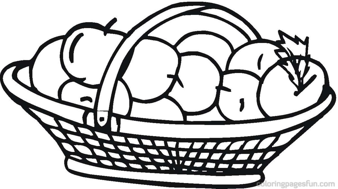 hot air balloon basket coloring page apple basket coloring pages jpg