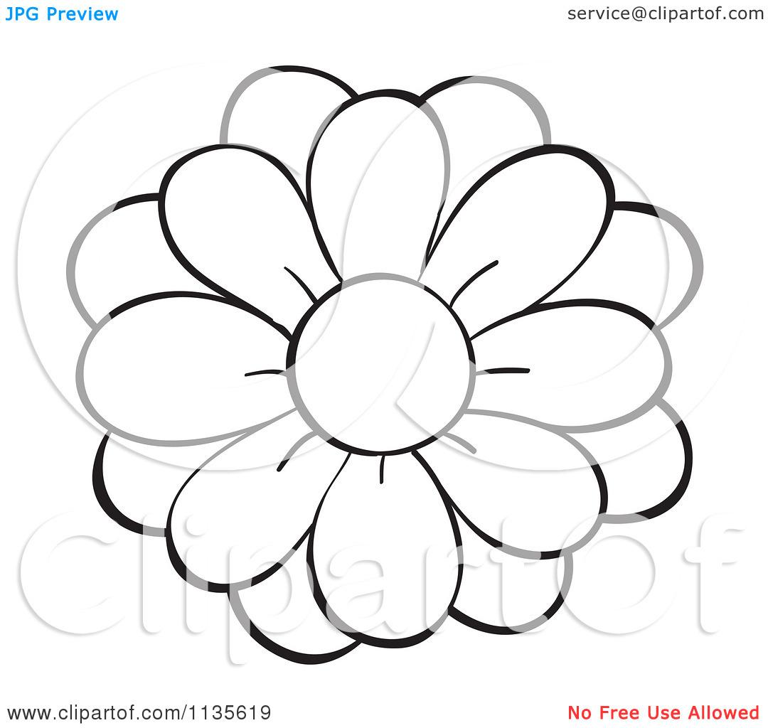 Clip Art Flower Black And White Clipart Panda