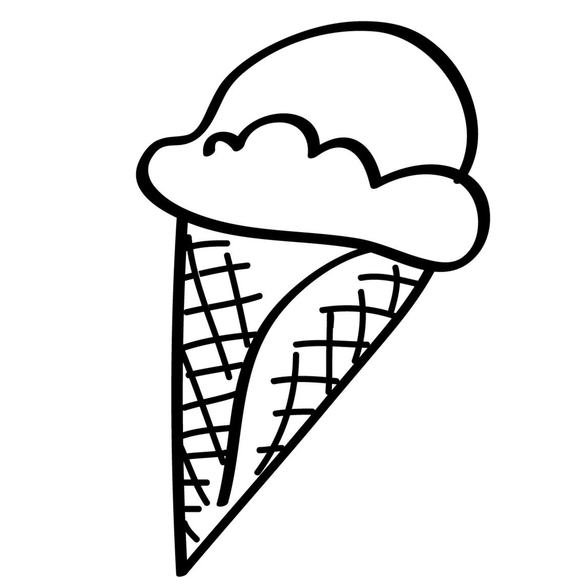 Ice Cream Sundae Coloring Page Clipart Panda