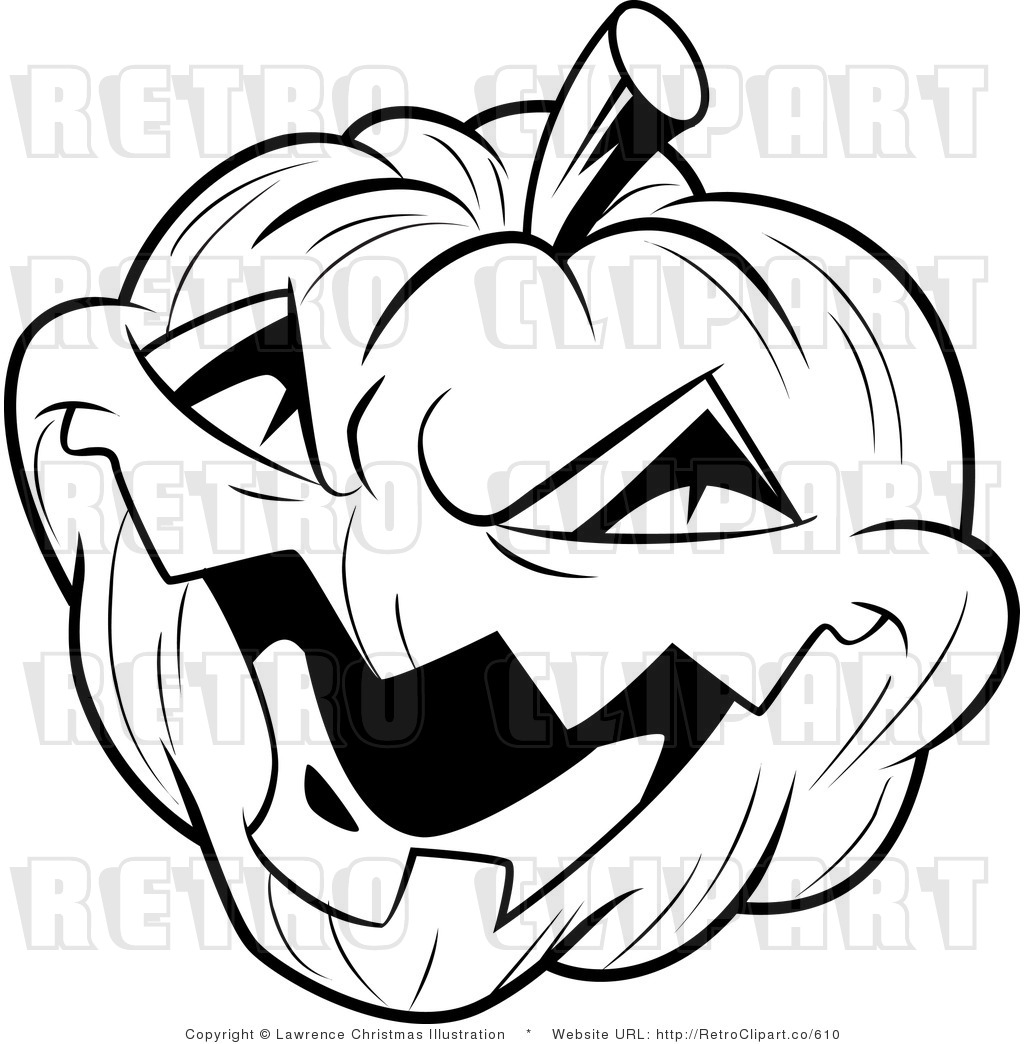 Halloween Pumpkin Clip Art Black And White