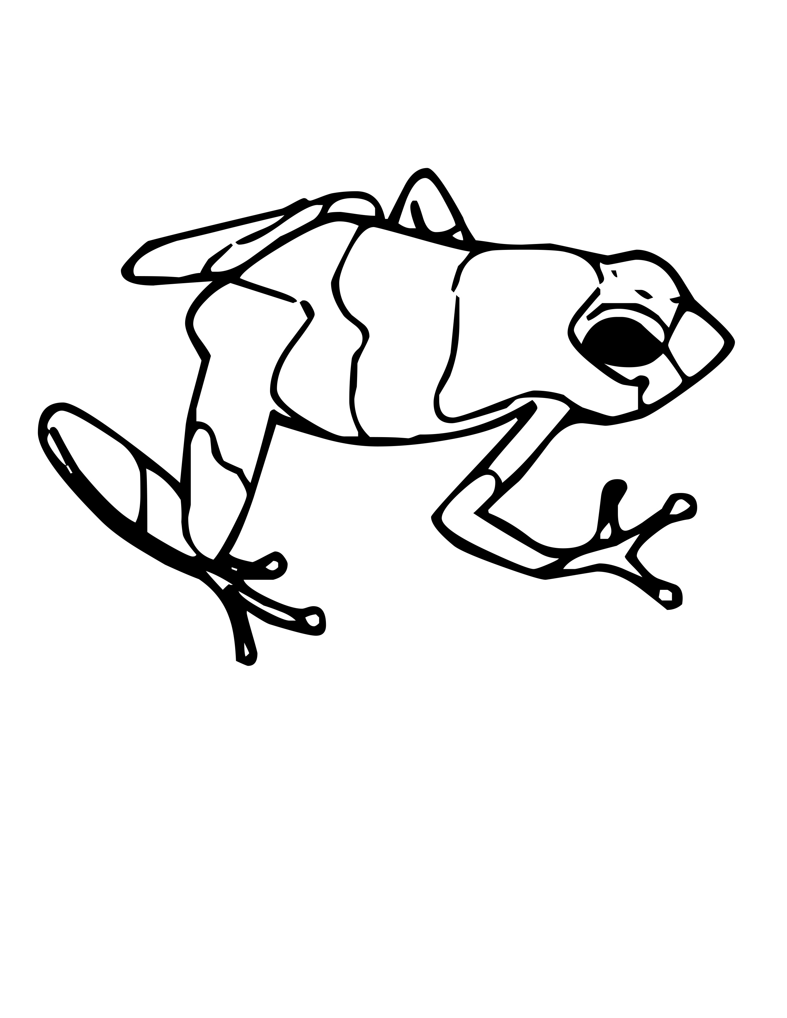 Jumping Frog Coloring Pages Clipart Panda