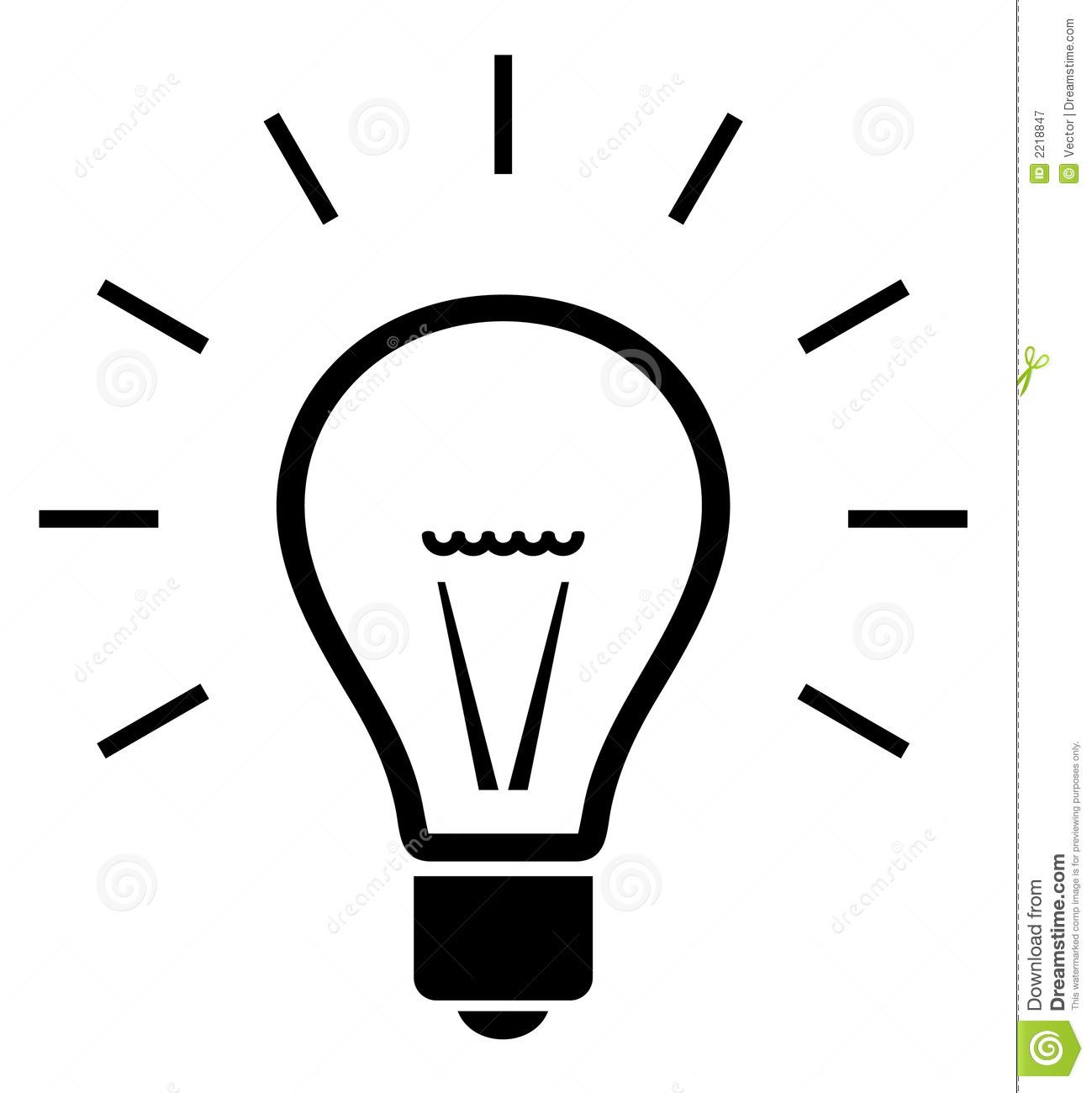 Lightbulb Idea Clipart Black And White