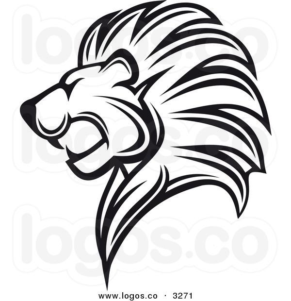 Lion Clip Art Black And White   Clipart Panda - Free ... (600 x 620 Pixel)