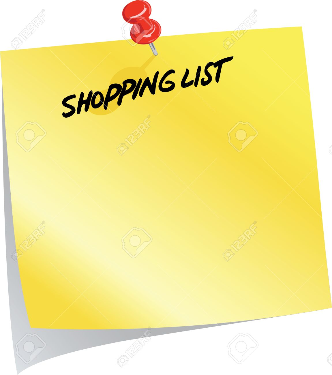 Image result for Clip Art Shopping List