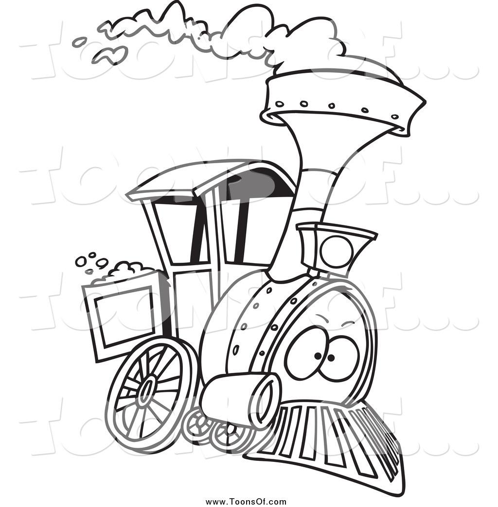Locomotive Clipart Black And White Clipart Panda