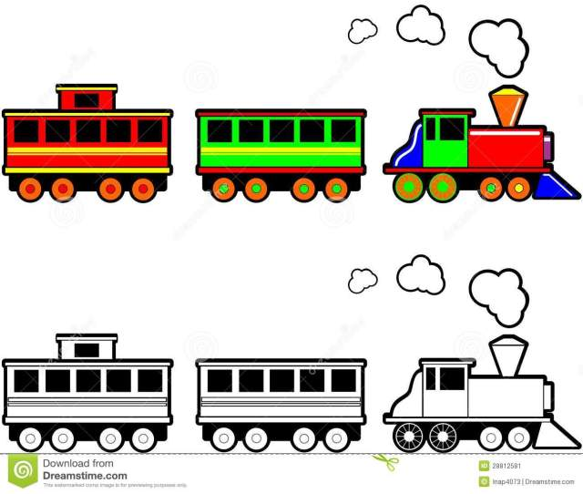 Locomotive Clipart Black And White
