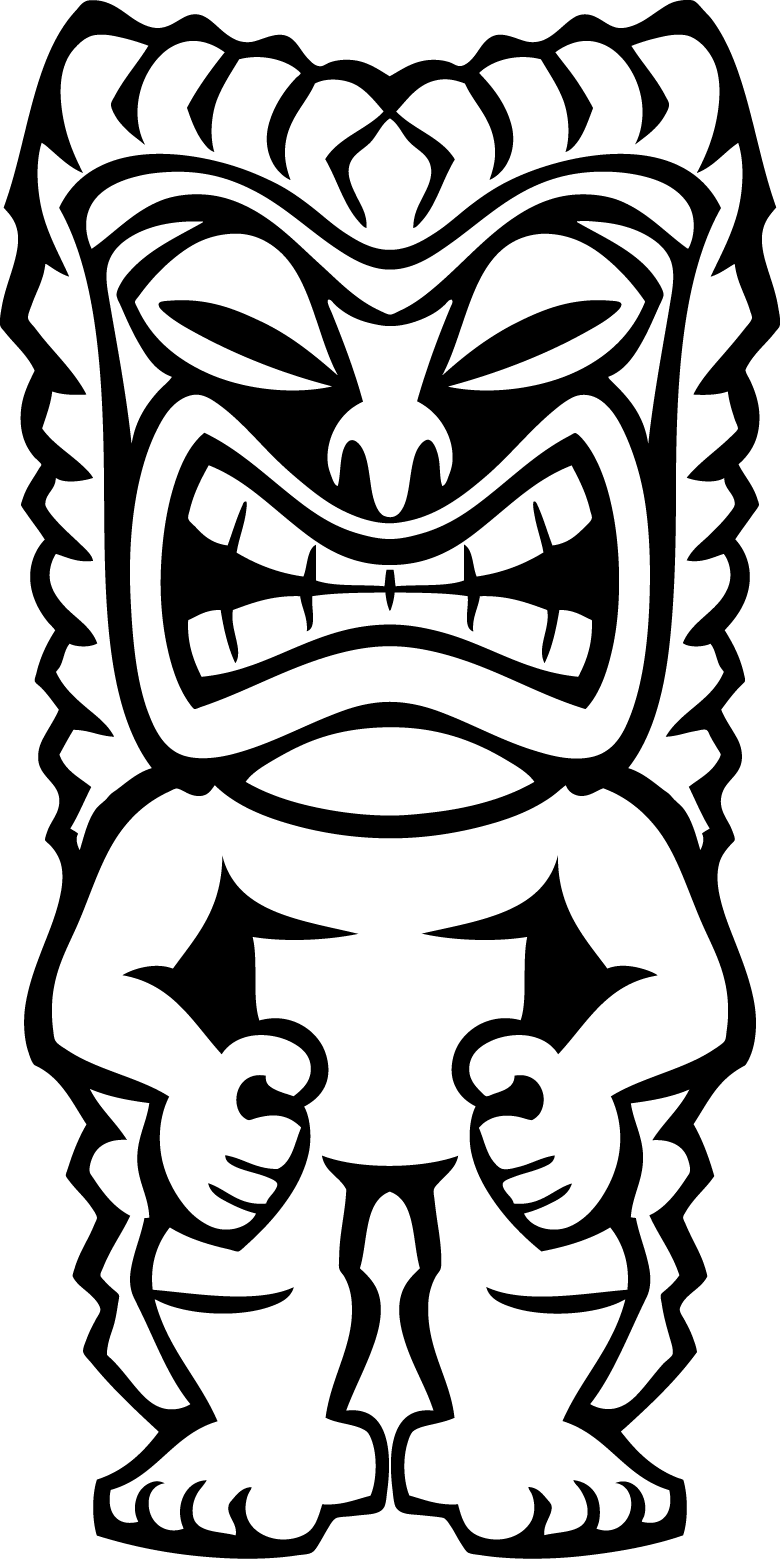 tiki clip art tiki faces colouring pages png tiki guy colouring pages
