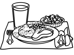 Turkey Dinner Clipart Black And White Clipart Panda
