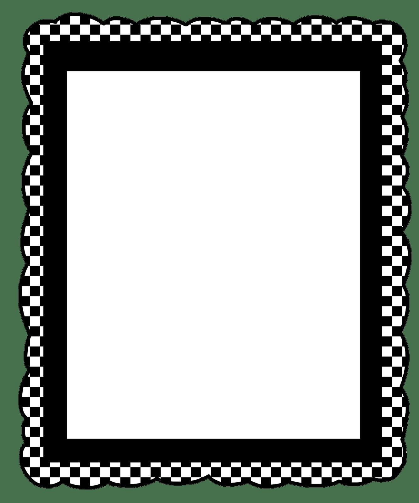 Halloween Clip Art Black And White Border