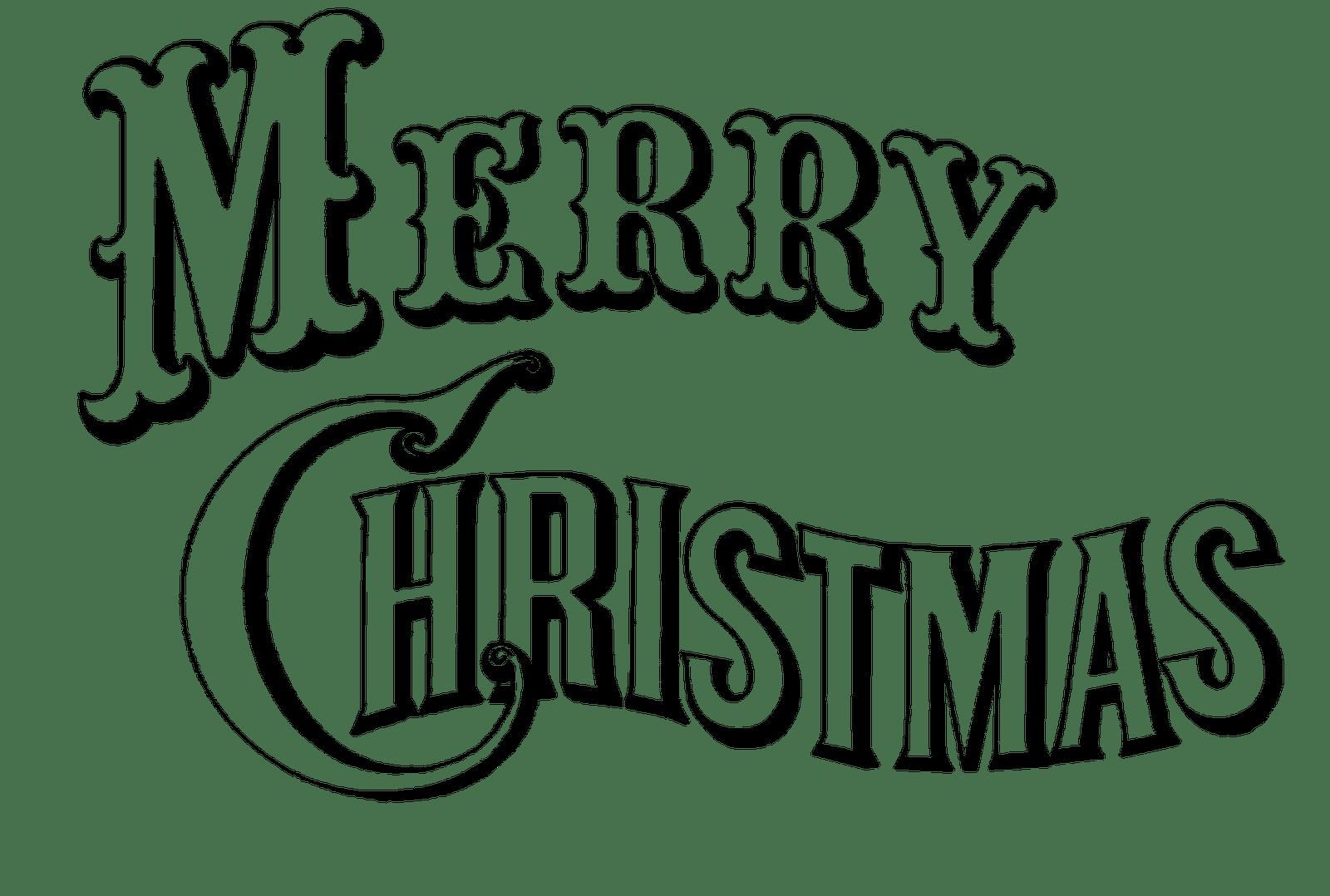 Merry Christmas Clip Art Words Clipart Panda