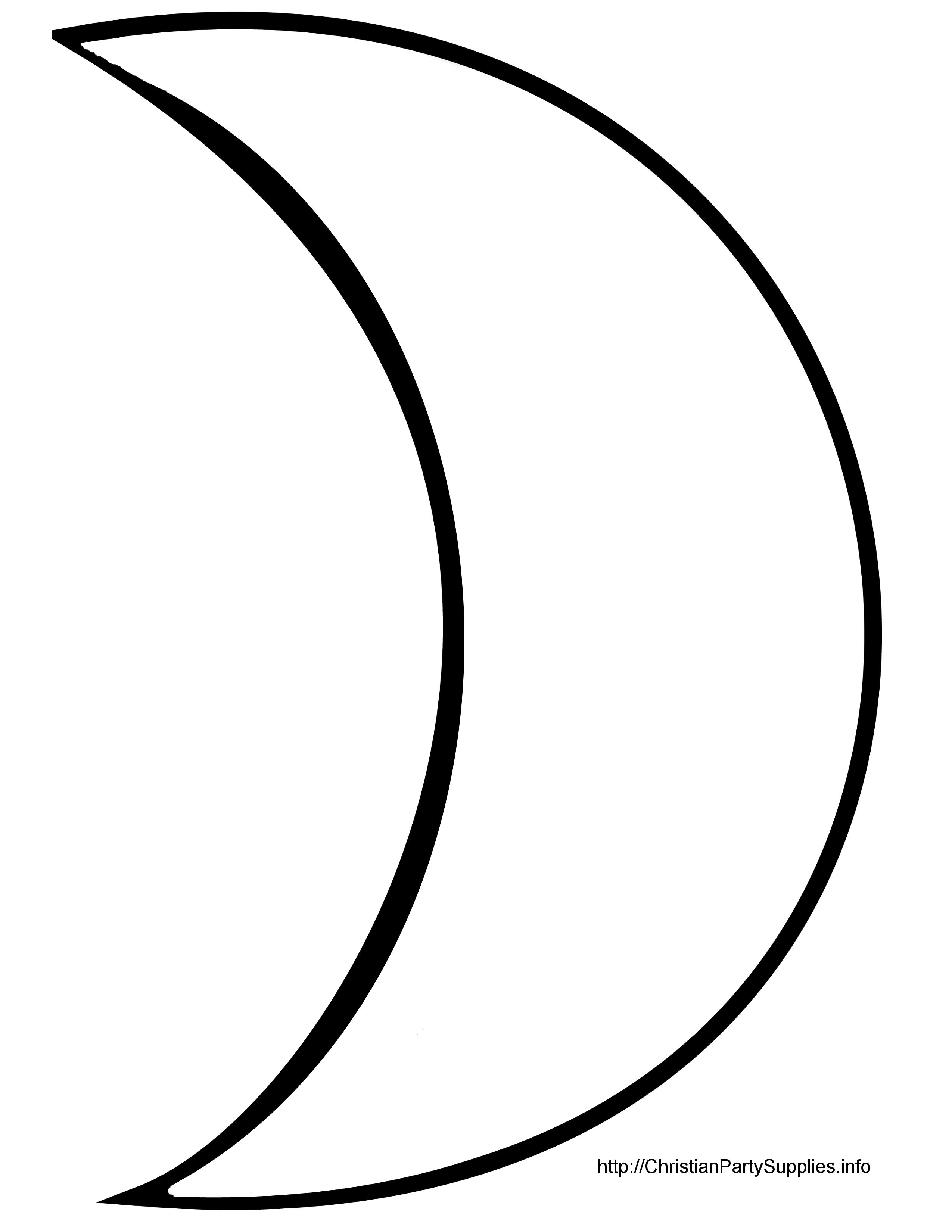 Moon Clipart Outline Clipart Panda