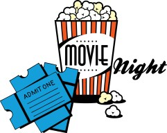 Image result for movie night clip art